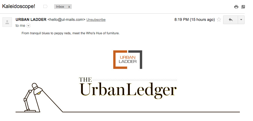 Email Marketing Examples for Your Online Store Urban Ladder