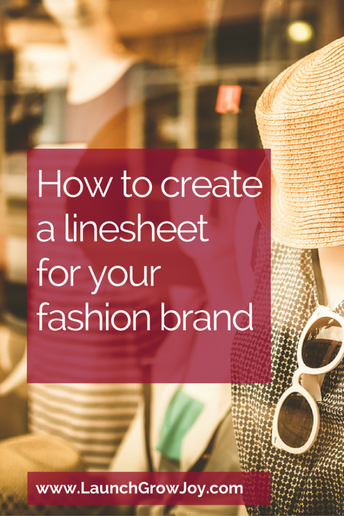 How to create a linesheet for your fashion brand