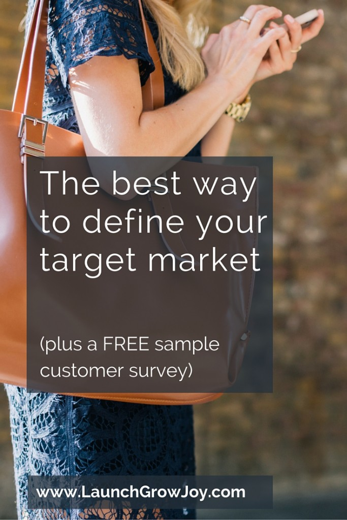 the best way to define your target market free survey template