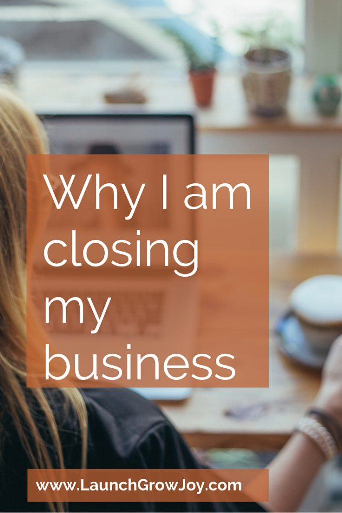 Why I am closing my business