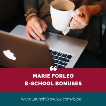 Bonuses for Marie Forleo B-school