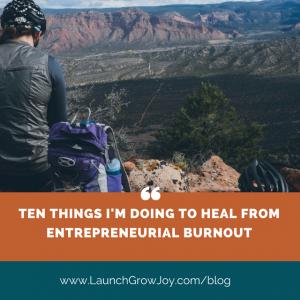 Burnout as an entrepreneur