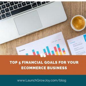 Financial goals shopify