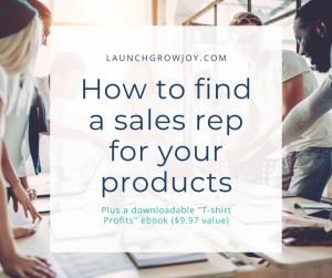 Find a sales rep