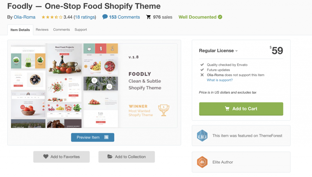 Foodly Theme Review