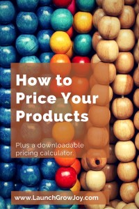 How to price your products