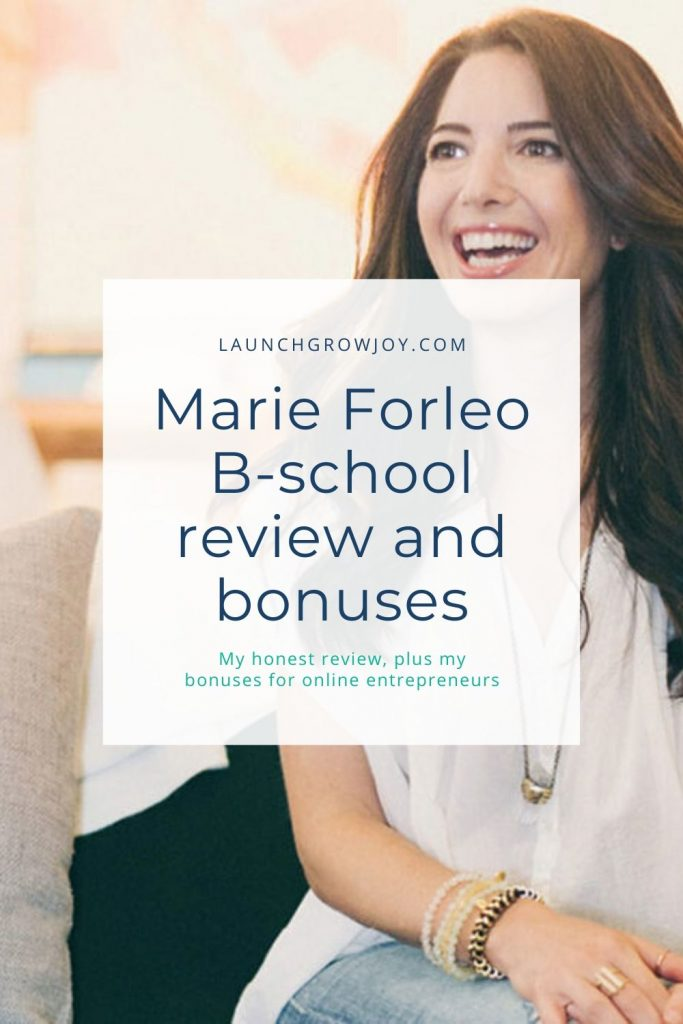 Marie Forelo B-school bonus