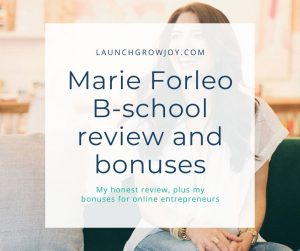 Marie Forleo B-school review and bonuses