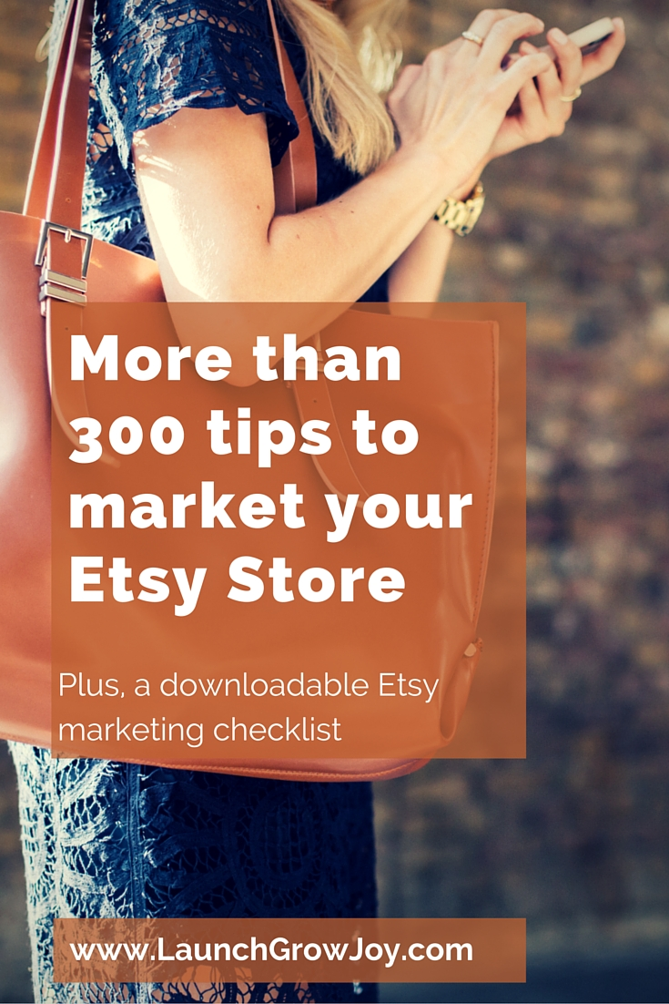 9c11720ffa8 Market Your Etsy Store - here are more than 300 tips