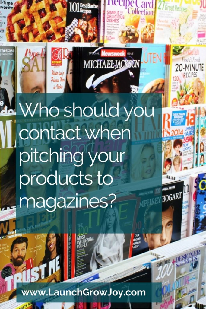 Who Should You Contact When Pitching Your Products To