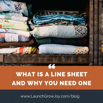 What is a line sheet