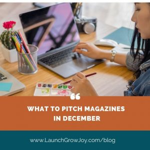 What to pitch for PR in december