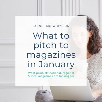 What to pitch in January