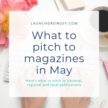 What to pitch in May