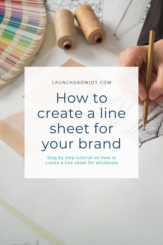 create a linesheet