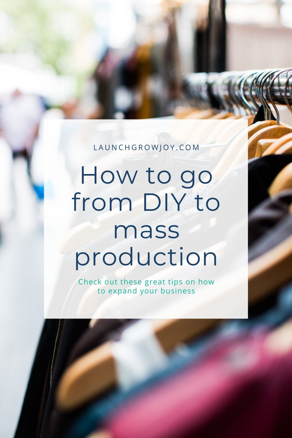 diy to mass production