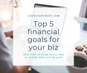 financial goals for your business