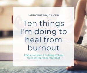 heal from burnout