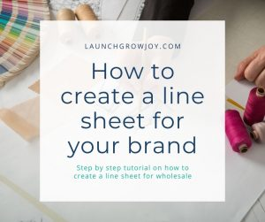 how to create a line sheet