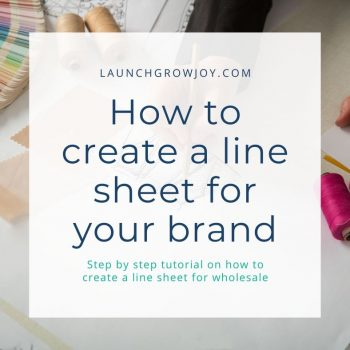 how to create a line sheet