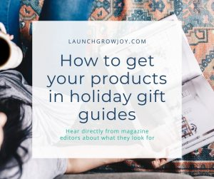 how to get in holiday gift guides