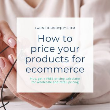 how to price your products for ecommerce