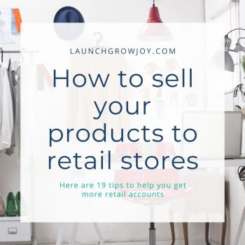 how to sell to retailers
