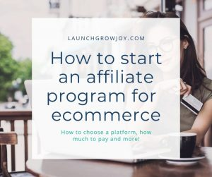 how to start an affiliate program