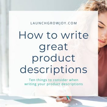 how to write product descriptions