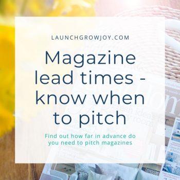 magazine lead time
