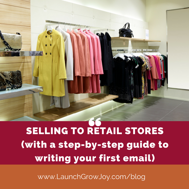 Selling to retail stores - how to speak to a retail buyer