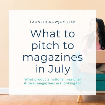 what to pitch in july