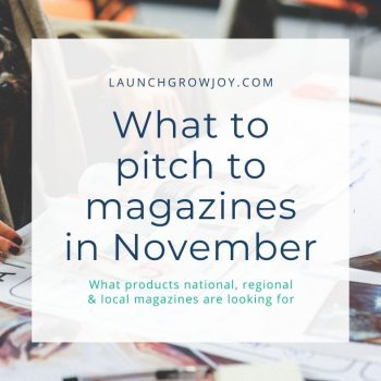 what to pitch in november