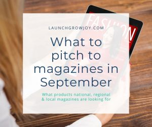what to pitch in september