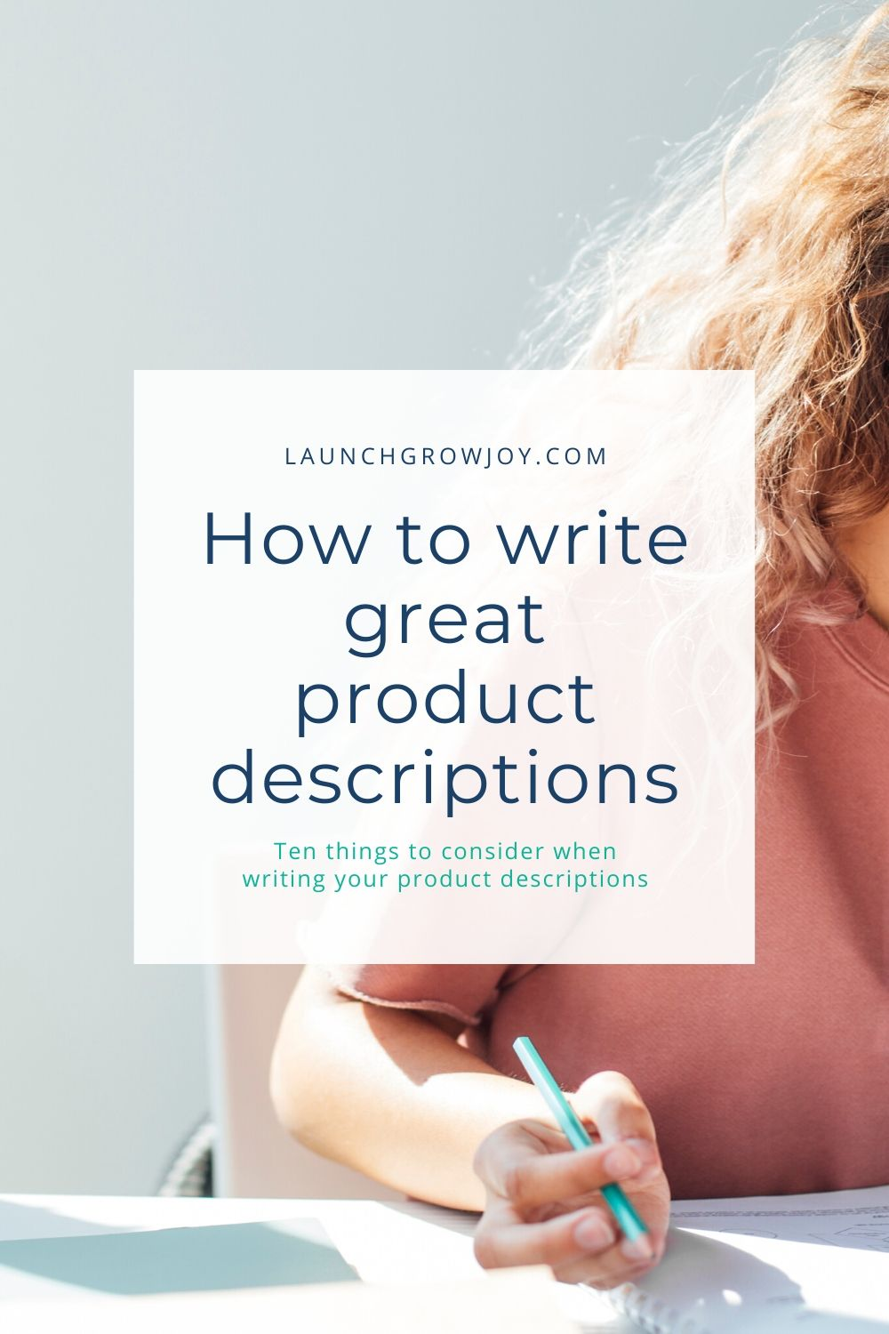 writing product descriptions